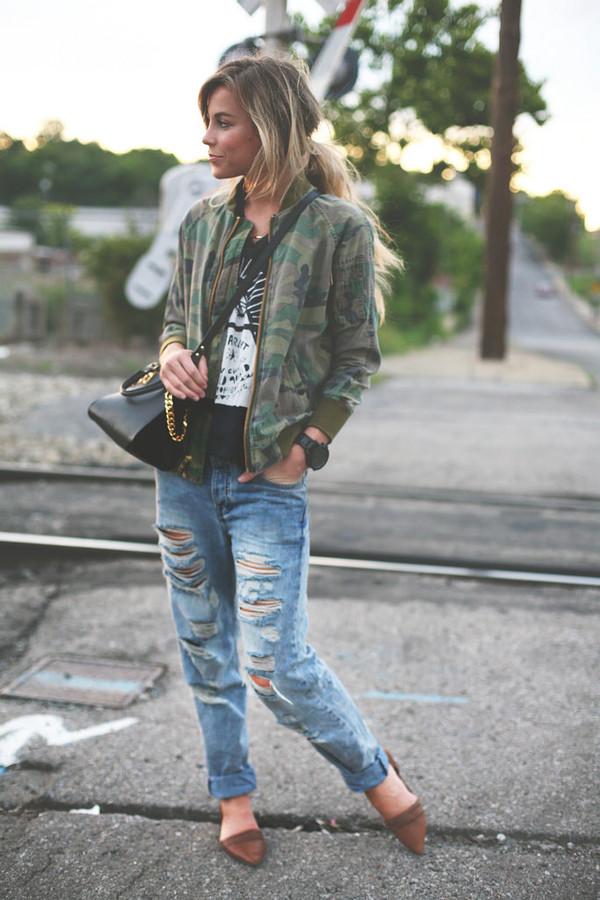 happily grey jacket t-shirt jewels bag jeans