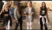 jumpsuit,black,white,grey,sporty,grunge,ripped jeans,hat,bomber jacket,hair tie,cap,denim jacket,white jeans,crop tops