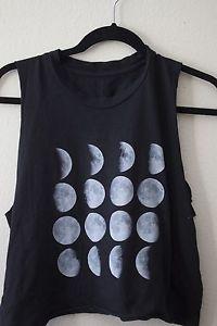 Brandy Melville Moon Cut Off Tee Muscle Tank   eBay
