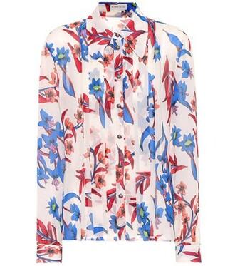shirt floral silk top