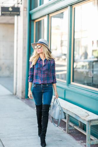 angel food blogger shirt jeans shoes bag hat sunglasses