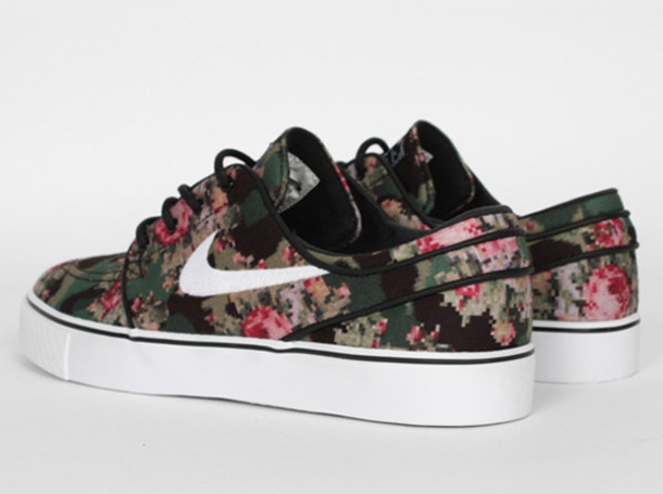 shoes nike floral cute janoskians print nike running shoes 8b7a1339a