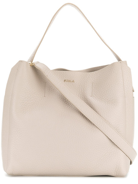 Furla - shopper tote - women - Leather - One Size, Nude/Neutrals, Leather