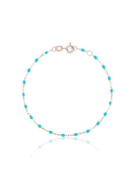 beaded bracelet rose gold rose women beaded gold blue aqua grey metallic jewels