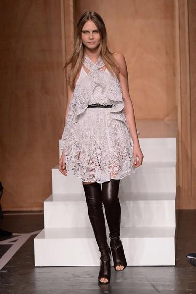 dress lace dress cara delevingne fashion week 2014