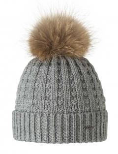 Barts Mütze mit Fellbommel in braun