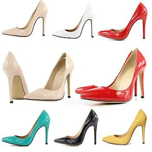 Fashion High Heel Pumps Court Shoes Turquoise Genuine PU Patent Leather 2014 New