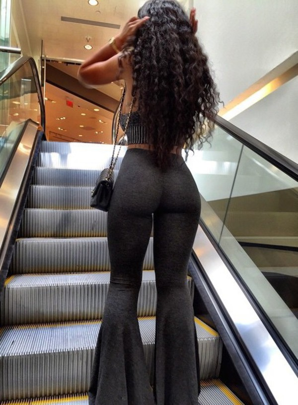 Pants Flare India Westbrooks Grey Grey Black Tights