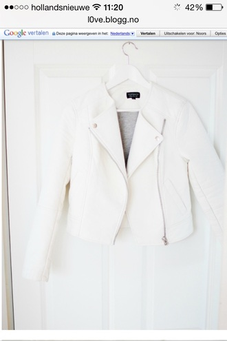 jacket white fashion outfit white jacket perfecto