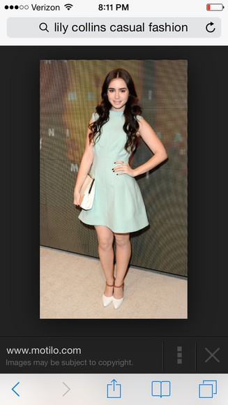 lily collins minty dress short dress classy and fabulous