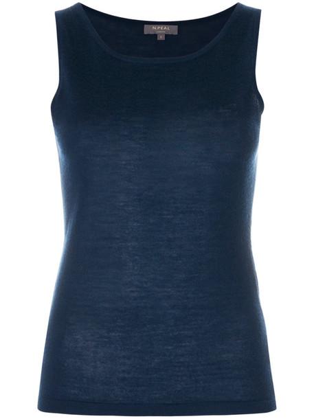N.Peal top women shell blue