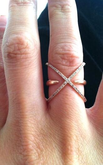 jewels ring pave rose gold