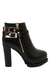 shoes,fashion,black,buckles,boots,style,trendy,gold,faux leather,platform shoes,zip