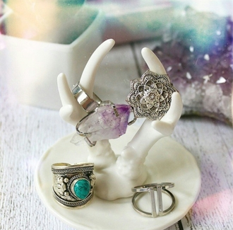 jewels on point clothing ring rings and tings big rings rings cute summer rings silver rings & tings rings and jewelry silver crystal quartz stone necklaces stone ring stone thick ring midi rings hand jewelry accessories accessory gorgeous women fashionista style girl pretty beautiful gemstone ring