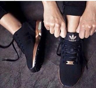 shoes adidas adidas shoes black gold