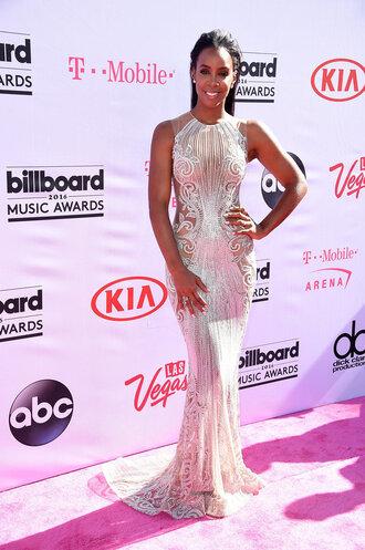 dress gown billboard music awards kelly rowland wedding dress long prom dress prom dress silver sequins sparkle sparkly dress black girls killin it