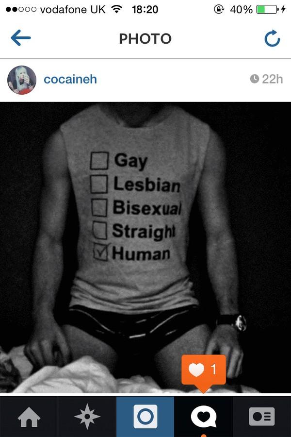 human lgbt straight lgbt lovely love t shirt print t-shirt tank top black white gay pride