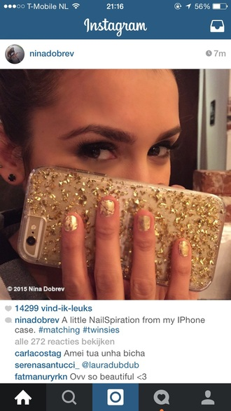 phone cover iphone iphone 6 case transparent translucent clear gold gold foil foil cover iphone case
