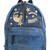 Chiara Ferragni Flirting backpack, Blue, Cotton/Leather