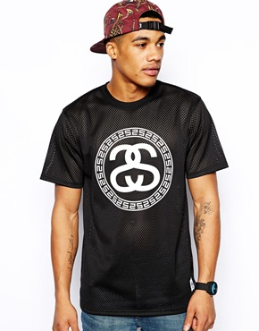Stussy | Stussy T-Shirt With Mesh at ASOS