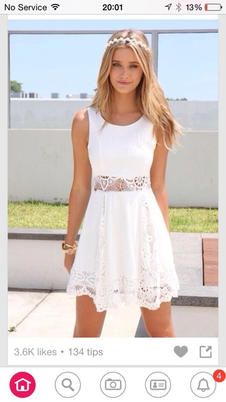 dress white dress lace