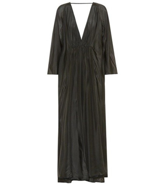 KALITA gown silk black dress
