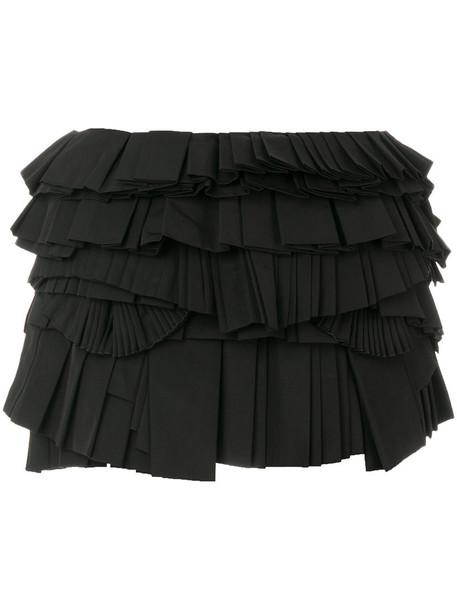 Givenchy skirt mini skirt mini pleated women cotton black