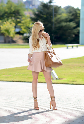 oh my vogue blogger skirt shoes bag sunglasses jewels