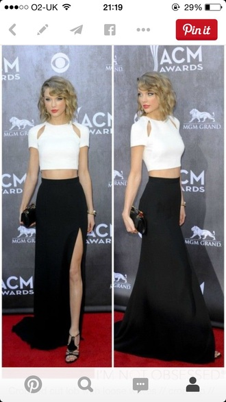 taylor swift white crop tops