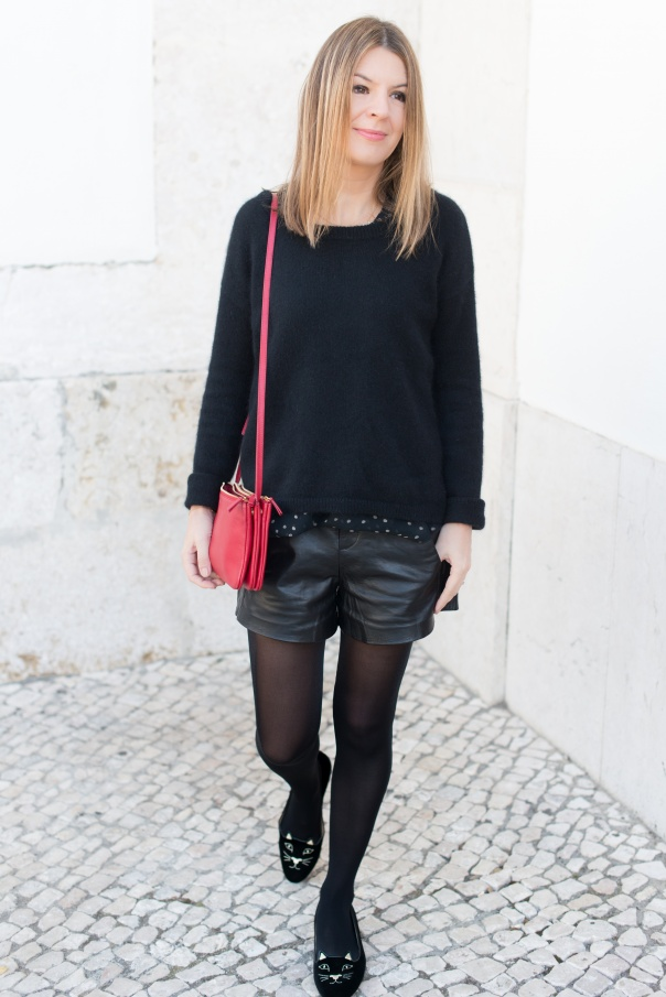 Short Cuir Maje Doug | Blog Mode - The Working Girl