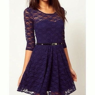 dress navy dress lace dress blue dress cute dress