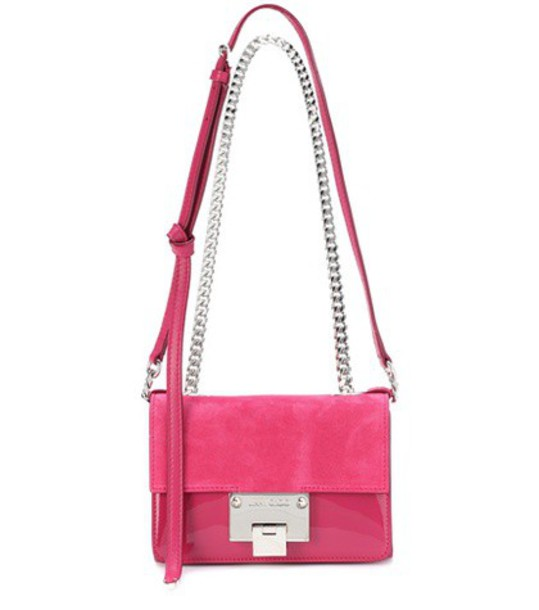 Jimmy Choo mini soft bag shoulder bag suede pink