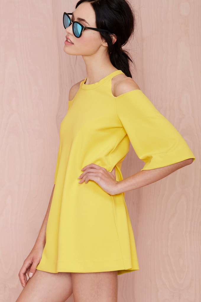 Foxiedox canary shift dress
