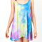 Colorful printed casual dress|disheefashion