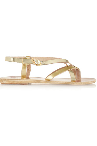 metallic sandals leather sandals leather gold shoes