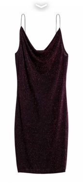 dress,burgundy,slip dress,glitter dress,metallic,cami dress,drape,cowl neck