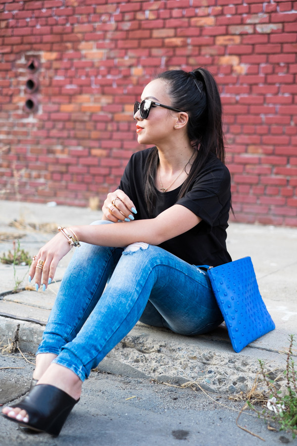 the fancy pants report blogger jeans sunglasses jewels