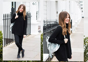 love of cloth,blogger,bag,black sweater,silver,bucket bag