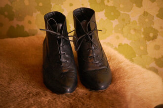 low boots granny boots leather brogue shoes black shoes brown shoes shoes