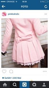 jacket,pink,loop,rose,sweet,cute,instagram
