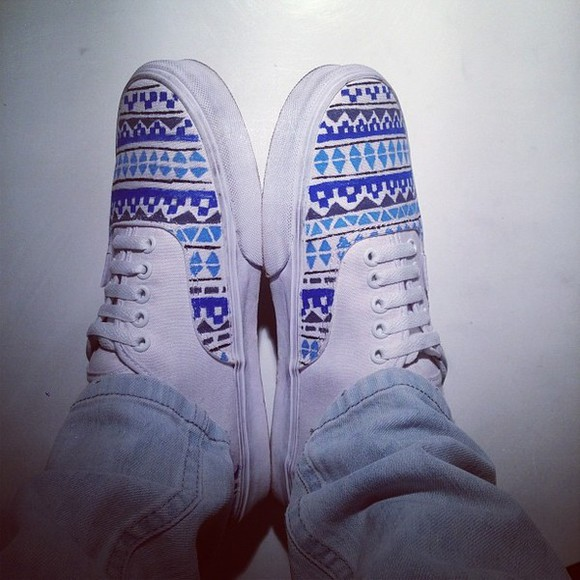 nebula galaxy vans shoes blue white shoe grey laces beautiful wonderful love summer aztec