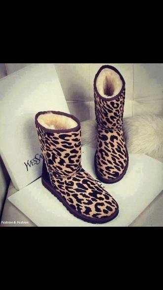 ugg boots yves saint laurent leopard print