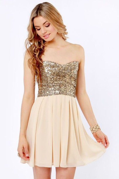 dress sweet 16 homecoming dress gold homecoming short homecoming dress