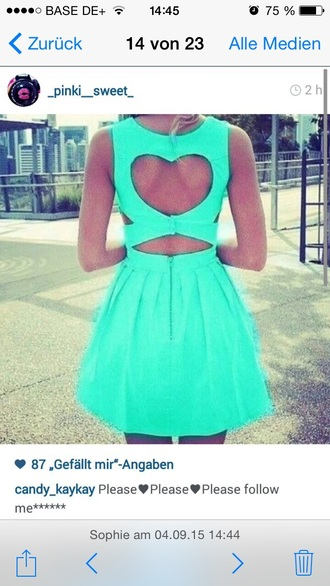 dress neon blue green cute turquoise cute dress