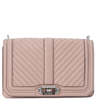 quilted bag crossbody bag leather pink