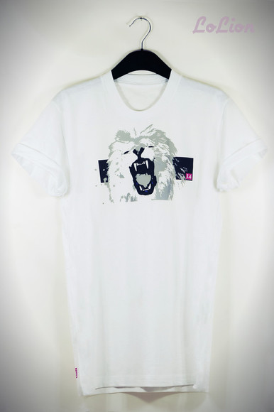 t-shirt white t-shirt lion t-shirt