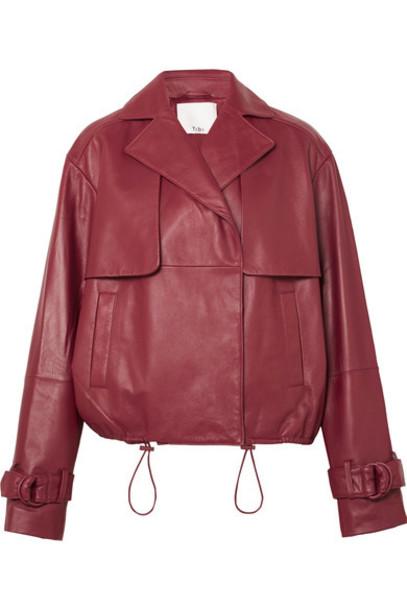 Tibi jacket leather jacket leather red