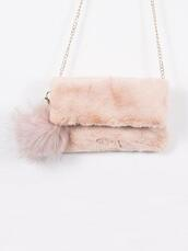 bag,gold soul,pink bag,fluffy,fuzzy bag,pink fuzzy bag,hipster,boho,chic,fur bag,cute bag,festival,festival bag,edc,chain bag,gold chain bag,furry bag,furry pouch,festival looks