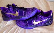 shoes,kobe 8,nike,bhm,purple,violet,gold,tribal pattern,sway