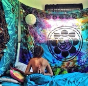 home accessory,tapestry,hippie,tie dye